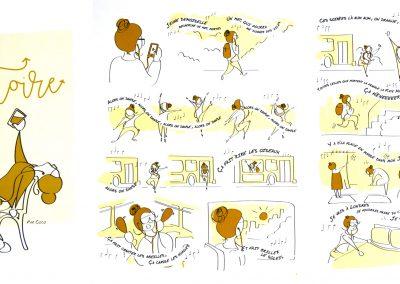 Mention : Mouvement et rythme du dessin<br> <em>Aléatoire</em>